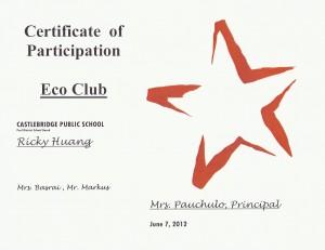 Eco Club 2012